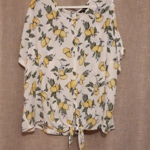 GEORGE front tie back button up blouse